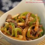 泡菜青椒牛肉丝