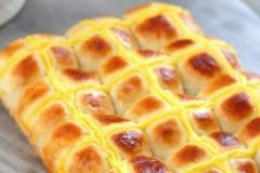 方形卡仕达小餐包(百分百中种)