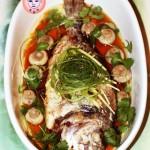 白蘑菇红烧金鲷鱼