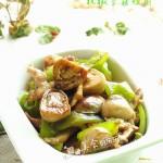 杭椒草菇炒肉