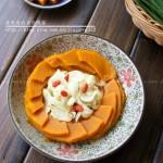 南瓜蒸百合(干燥季节来一道润燥菜谱)