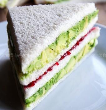 樹莓醬酪梨三明治(快速營養早餐)