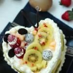 椰香朗姆水果蛋糕