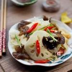 莲菜拌双耳(雾霾天气要多吃的清肺小菜)