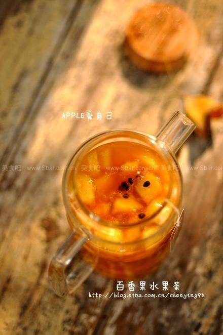 迷人百香果水果茶