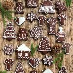 圣诞巧克力糖霜饼干