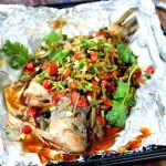 秘制锡纸包鲈鱼(轻松炮制餐厅人气大菜)