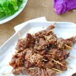 下酒零食两相宜的牙签羊肉(春节家宴菜)