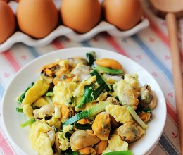海虹韭菜炒鸡蛋