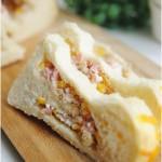 肉松火腿玉米沙拉吐司(早餐菜譜)