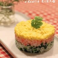 三色壽司蛋糕