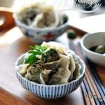 虾肉荠菜灌汤饺(早餐菜谱)