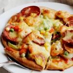 火腿鲜虾披萨