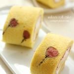 樱花草莓蛋糕卷(甜品点心)