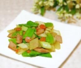 火腿木薯炒兰豆