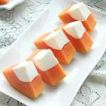 木瓜牛奶冻(春季的小清新甜品)