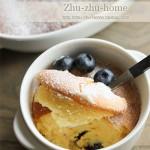 舒芙蕾蓝莓乳酪蛋糕(甜品点心)