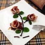 火腿玫瑰(水果拼盘之摆盘)