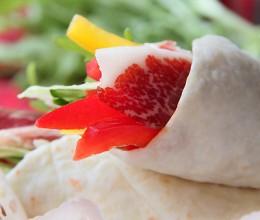 火腿春饼卷和冷翠火腿卷