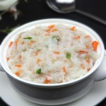 胡萝卜肉末粥(早餐菜谱)