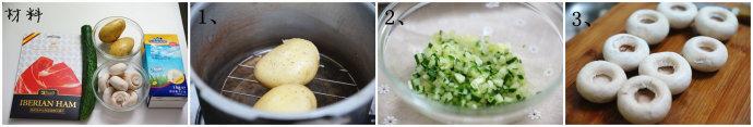 蘑茹火腿豆泥沙拉