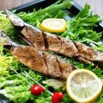 海盐香烤秋刀鱼