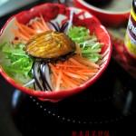 鲍鱼蔬菜拌饭