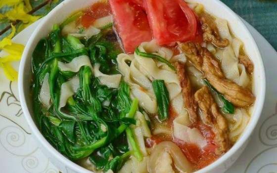 面条菜肉丝面(早餐菜谱)