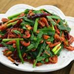韭菜炒河虾&香酥河虾(补钙佳品小河虾)