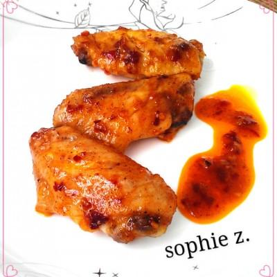 秘制酱料烤鸡翅