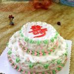 祥云托寿(裱花蛋糕)