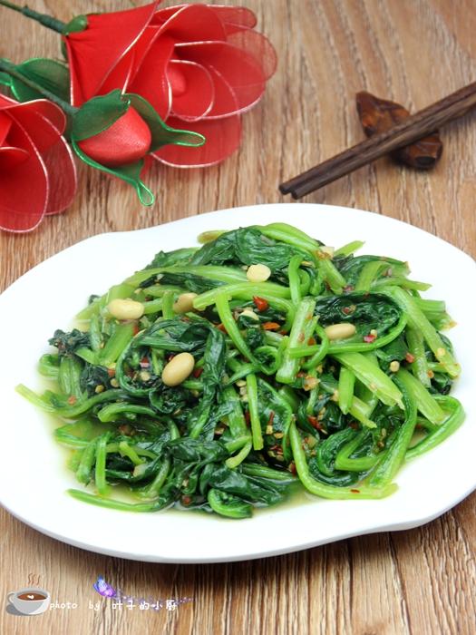 辣豆瓣炒菠菜