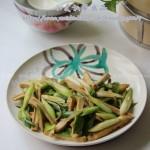 青蒜炒豆干(快手菜)
