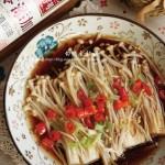 白灼金针菇(下饭快手菜)