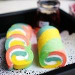 五彩斑斓的彩虹蛋糕卷(甜品点心)