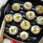 火腿鹌鹑蛋焗蘑菇