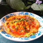 番茄酱浇汁鸡蛋