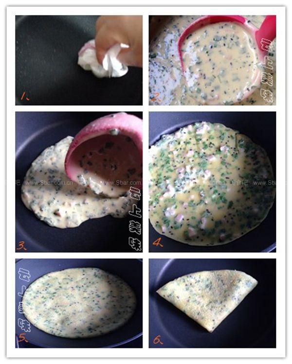 鸡蛋韭菜饼