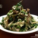 荠菜炒香干(春天野菜香)