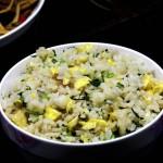 菜心炒米饭(早餐菜谱)