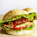 番茄猪排汉堡包(春季郊游的能量餐)