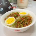 酸菜虾米挂面(早餐菜谱)