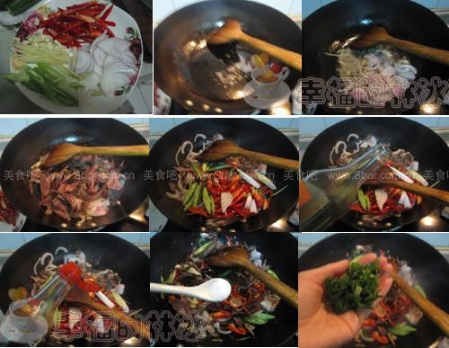洋葱炒熏兔肉