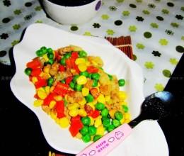 青豆玉米炒肉