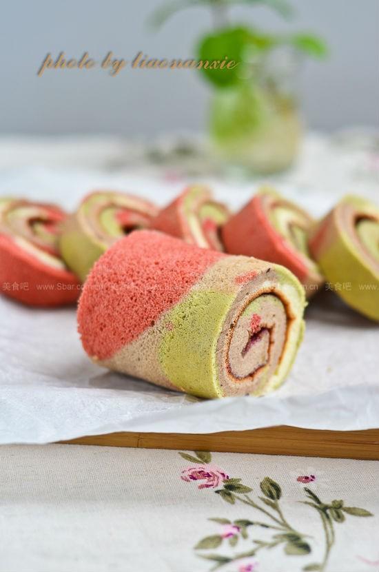 彩色蛋糕卷