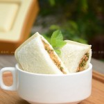 肉松三明治、芒果三明治、火腿三明治(早餐菜譜)