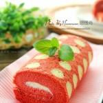 红丝绒波点蛋糕卷(甜品点心)