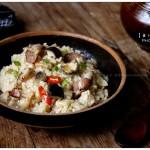 干萝卜腊肉焖饭(电饭煲菜谱)