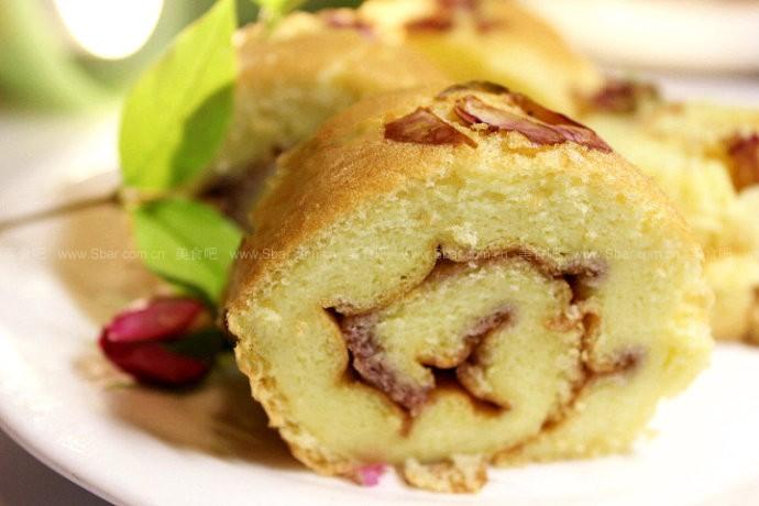 蔷薇蛋糕卷