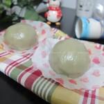 抹茶味的蜜豆糯米团(早餐菜谱)
